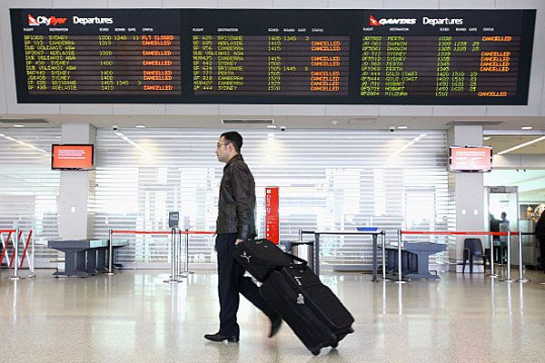 Passenger in transit at Melbourne Airport