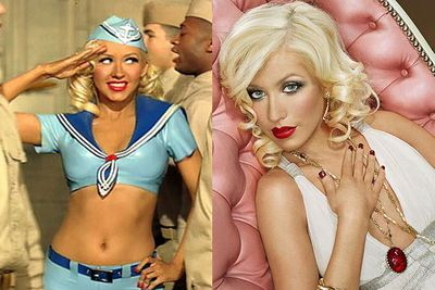 XTina had flirted with 'Dirrty'-ness in the past, corseted up for 'Lady Marmalade' and was a retro saucepot before Gaga burst onto the scene...