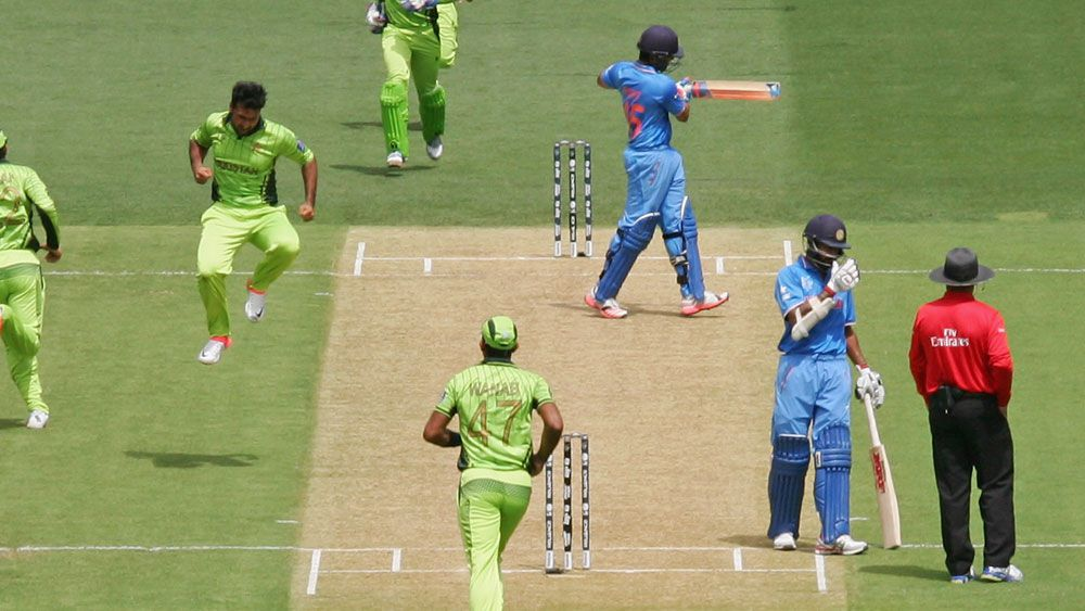 Pakistan and India clash during the ODI World Cup in Australia. (Getty)