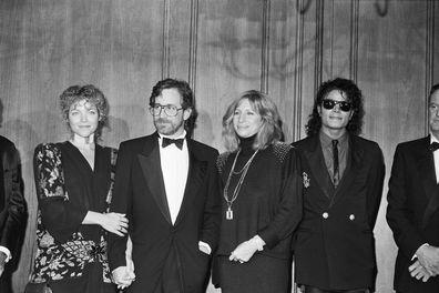 Steven Spielberg, Amy Irving, Barbra Streisand and Michael Jackson