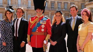 Princess Beatrice Edoardo Prince Andrew Fergie Jack Brooksbank Princess Eugenie