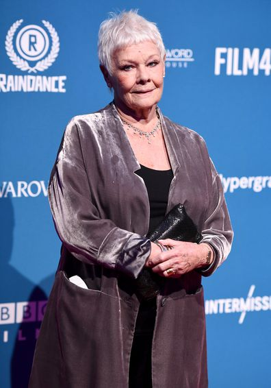 Judi Dench attends awards show red carpet
