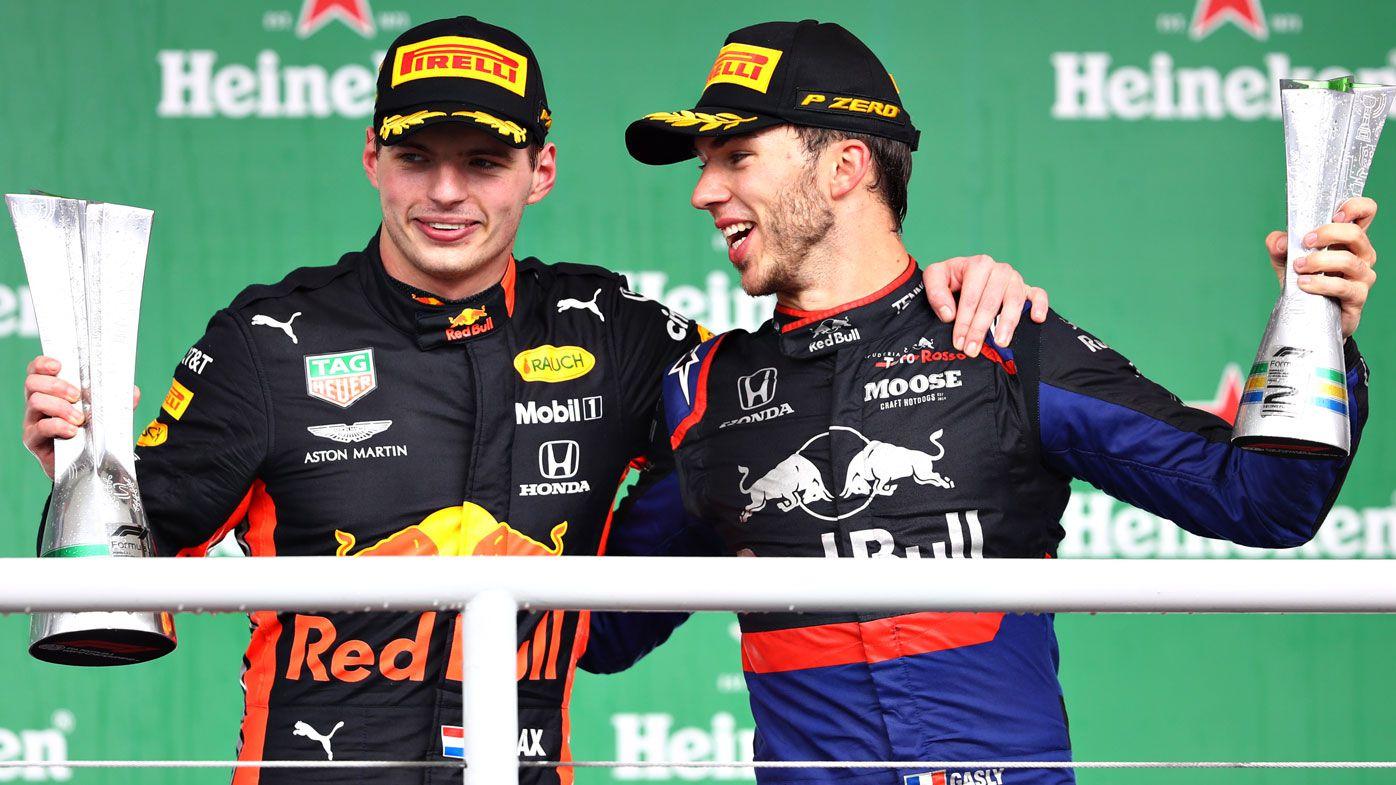 Red Bull's Max Verstappen wins wild Brazilian GP as Ferrari pair collide
