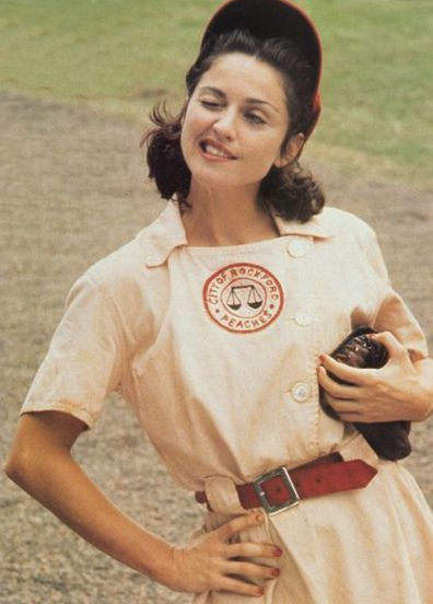 Madonna stars in A League of Their Own.