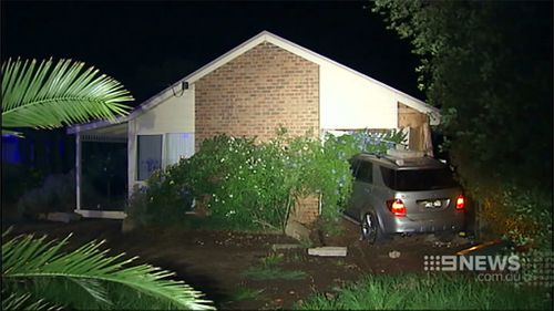 Young Victorian family escape death after alleged drink-driver smashes through their bedroom