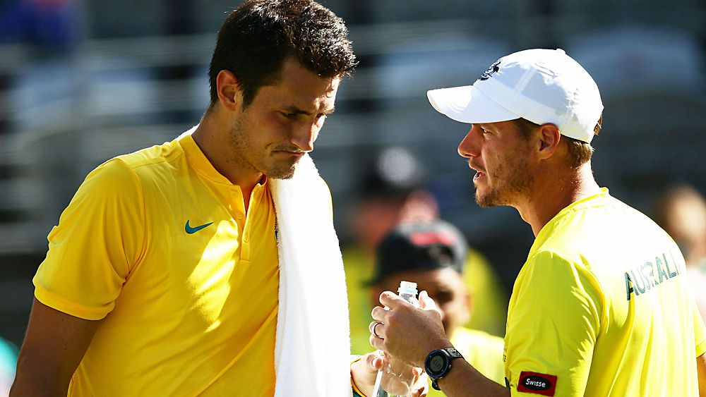 Tennis: Bernard Tomic 'a long way off' Davis Cup: Lleyton Hewitt