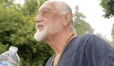 Mick Fleetwood even jumped on a board - and created an account just for the video.
