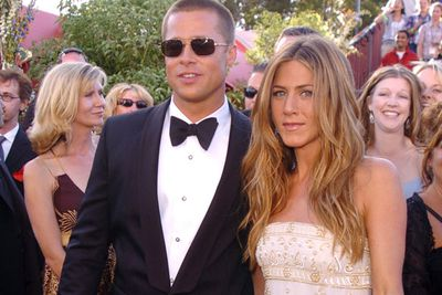 The only thing (sorta) stopping the pair from running away together was Brad's then-wife and Hollywood sweetheart, Jennifer Aniston. <br/><br/>Source: Getty <br/>