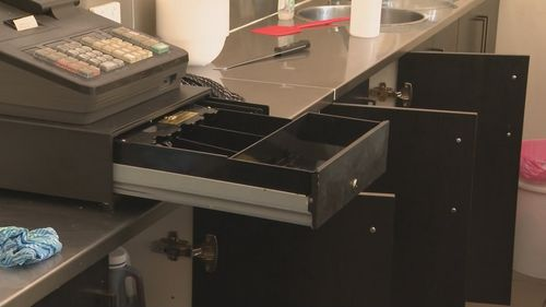 The cash register of one of the businesses was cleaned out.