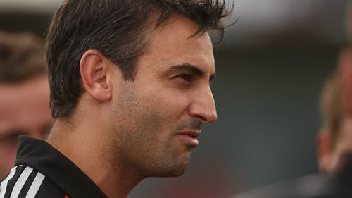 Scott Camporeale as Bombers assistant coach. (Getty)