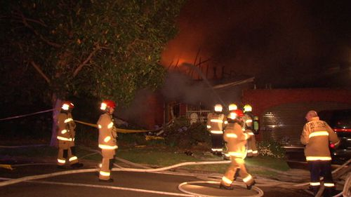 Fire crews were called to the Austin Avenue home just after 3am. (9NEWS)