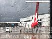Qantas plane struck by lightning
