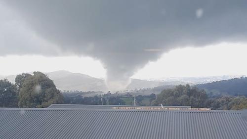 The tornado ripped through the region near Bathurst.