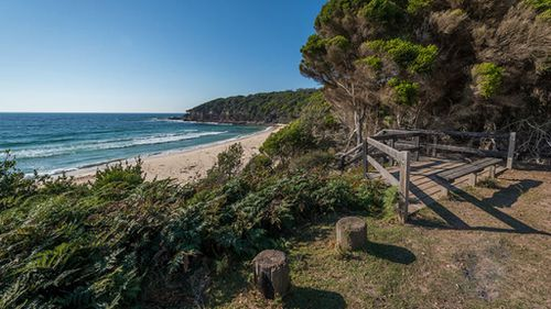 Terrace Beach, where the boy is believed to have suffered a cardiac arrest after was trapped under a sand dune.