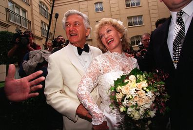 Bob Hawke wed Blanch d'Alpuget at The Ritz Carlton, Double Bay in 1985.