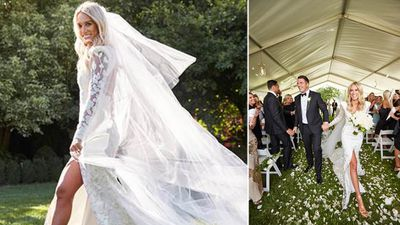 The pair exchanged vows in front of 200 guests. (Supplied)