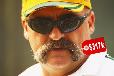 According to internet legend, the Aussie cricketer had his amazing mo insured for $317,000.