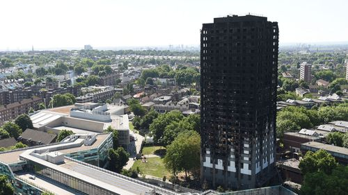 Grenfell Tower in London was covered with flammable cladding.
