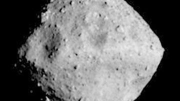 The asteroid, named Ryugu after an undersea palace in a Japanese folktale, is about 900 meters in diameter.