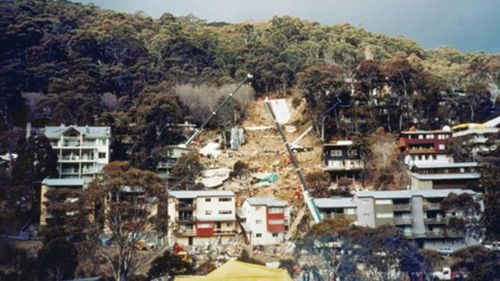 A file photo of the destruction following the landslide.