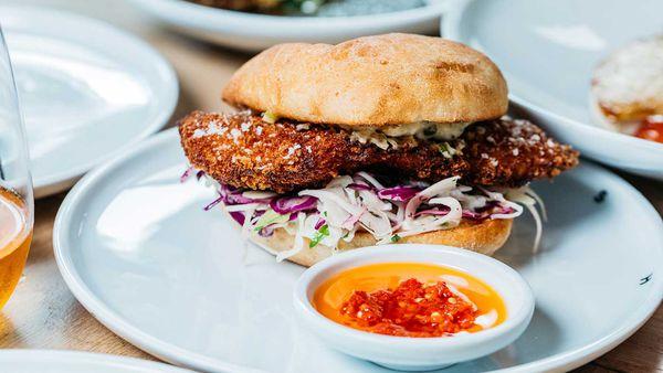 Fish Shop barramundi fish burger