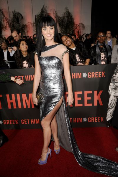 Katy Perry attends the Los Angeles premiere of 'Get Him To The Greek' at The Greek Theatre on May 25, 2010