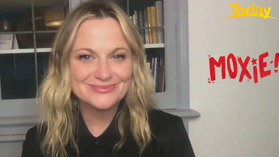 Amy Poehler directs and stars in 'Moxie'.