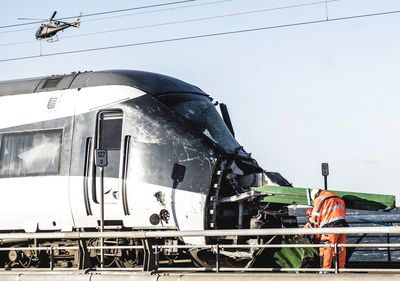 A passenger train carrying 131 people on board has crashed on route to Copenhagen.