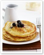 Lemon and blueberry pancakes