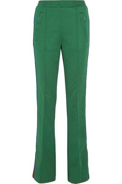 "<a href=""https://www.net-a-porter.com/au/en/product/803164/gucci/striped-satin-jersey-track-pants"" target=""_blank"" draggable=""false"">Gucci&nbsp;striped satin-jersey track pants</a>, $800"