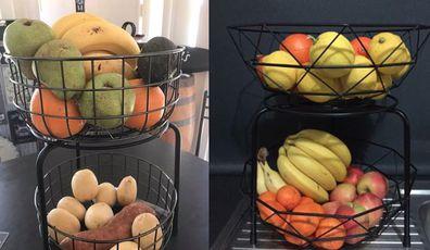 Kmart hack for fruit bowls and fruit stands