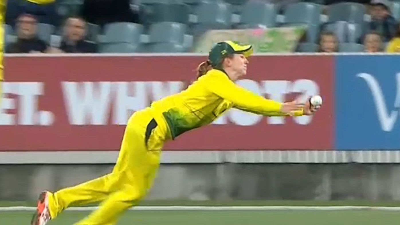 'Incredible' Rachael Haynes catch dubbed 'catch of the summer' as Australia sweep New Zealand