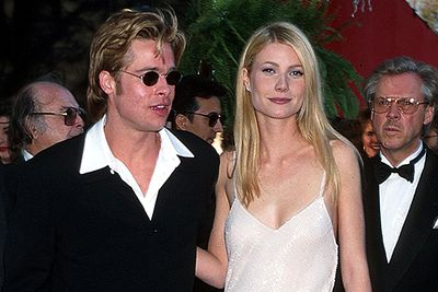 Yeah... so Brad's a bit of a serial red carpet date.  He next strided down the red carpet in 1996, arm in arm with Gwyneth Paltrow (the pair dated for three years before splitting the following year).