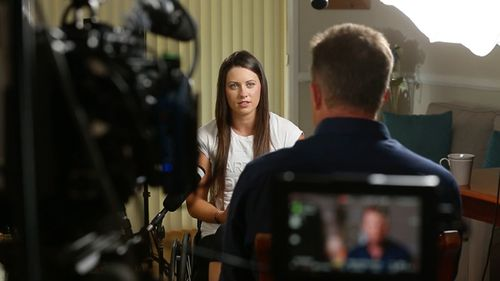 Last April, Parker was cycling with her ironman circuit partner Brad Fernley down the Pacific Highway at 45km/h when her tyres burst in a freak accident. (60 Minutes)