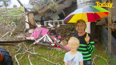 Shorty Brown was warned of the damage by her niece, who had driven by the house.