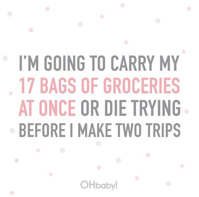 Because if you have to do more than one trip with a crying toddler and baby in a sling, you just might not make it through.