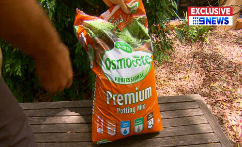The bacteria was linked to a $8 bag of potting mix he had purchased from Bunnings. (9NEWS Exclusive)