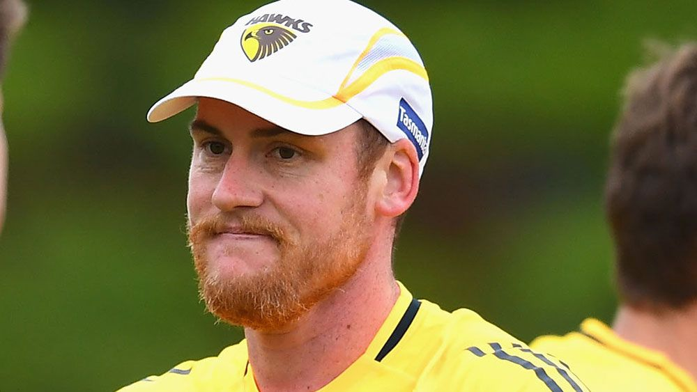 Roughead back training with Hawks