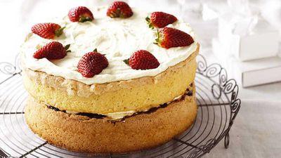 "Recipe:&nbsp;<a href=""http://kitchen.nine.com.au/2016/05/16/16/29/grandmas-sponge-cake"" target=""_top"">Grandma's sponge cake</a>"