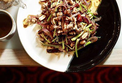 Stir-fried chopped duck