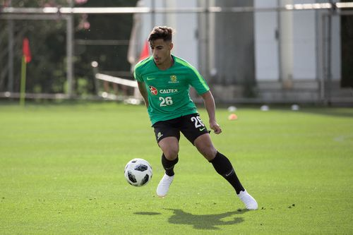 Daniel Arzani is the youngest player in the tournament - and the Socceroos' wildcard. (AAP)