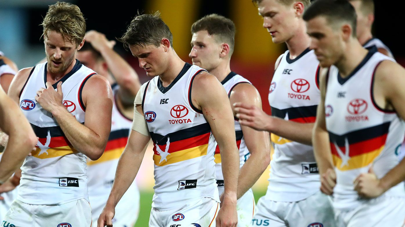 EXCLUSIVE: Shane Crawford, Warren Tredrea explain 'deplorable' Adelaide Crows slump