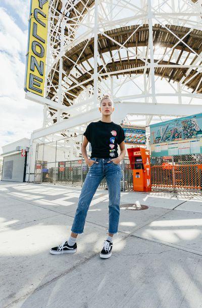 Hailey Baldwin forKith x Power Rangers