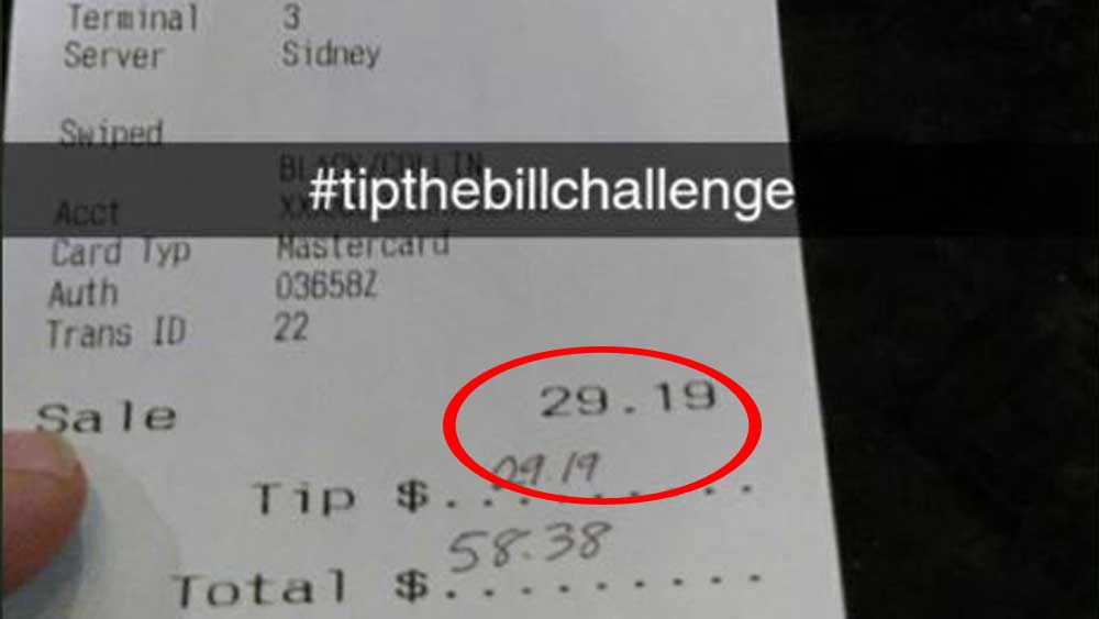 Tip the bill
