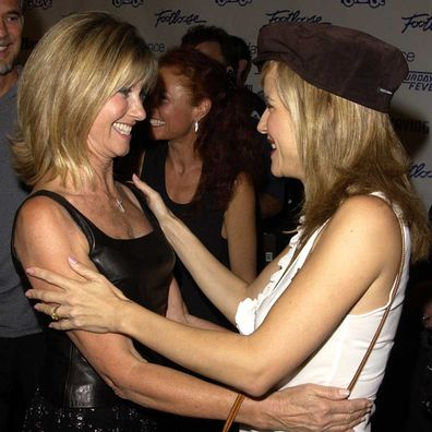 Olivia Newton-John and Kelly Preston in 2002.