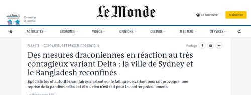 Le Mondey on Sydney outbreak