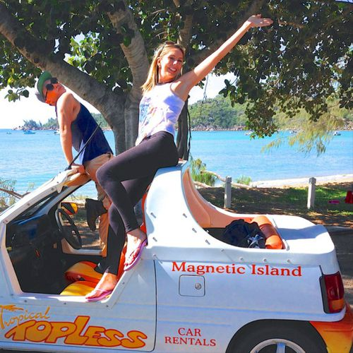 Going topless. It's the only way to do it on Magnetic Island!