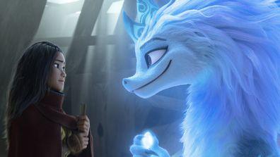Raya seeks the help of the legendary dragon, Sisu in Raya and the Last Dragon.
