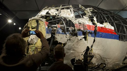 The plane's fuselage was reassembled during an investigation into the disaster. (AAP)