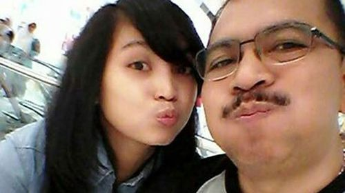 Irianto with his daughter Angela. (Twitter)